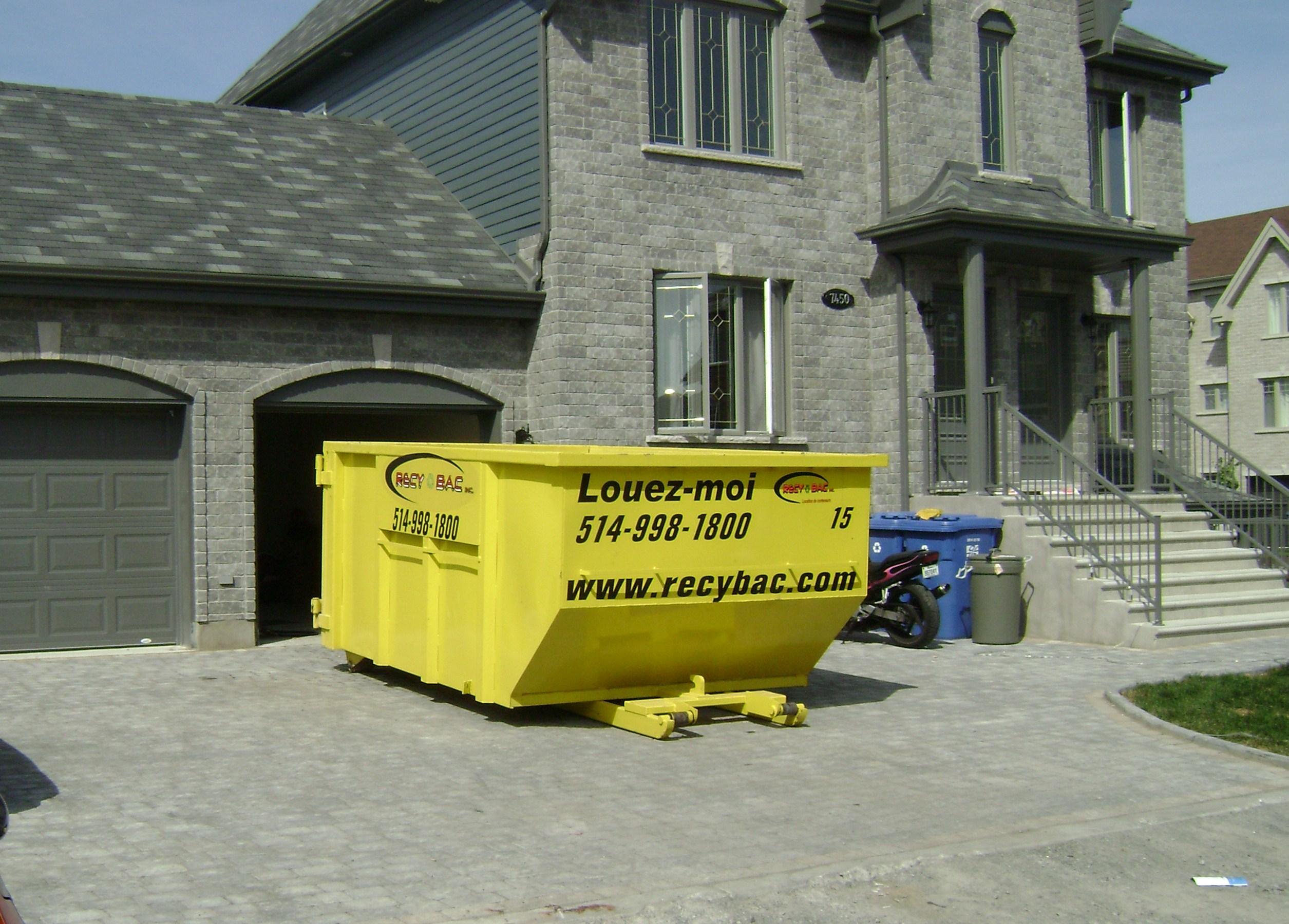 Recy Bac Conteneur Mini Conteneur De Construction