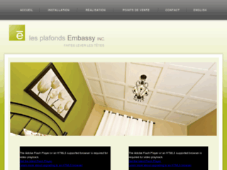 Détails : Les plafonds Embassy Inc. - Plafonds Suspendus