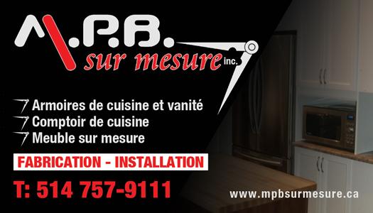 M p b sur mesure inc armoire de cuisine et salle de - Comptoir de cuisine sur mesure ...