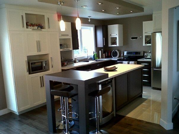 M p b sur mesure inc armoire de cuisine et salle de for Armoires de cuisine et plus inc